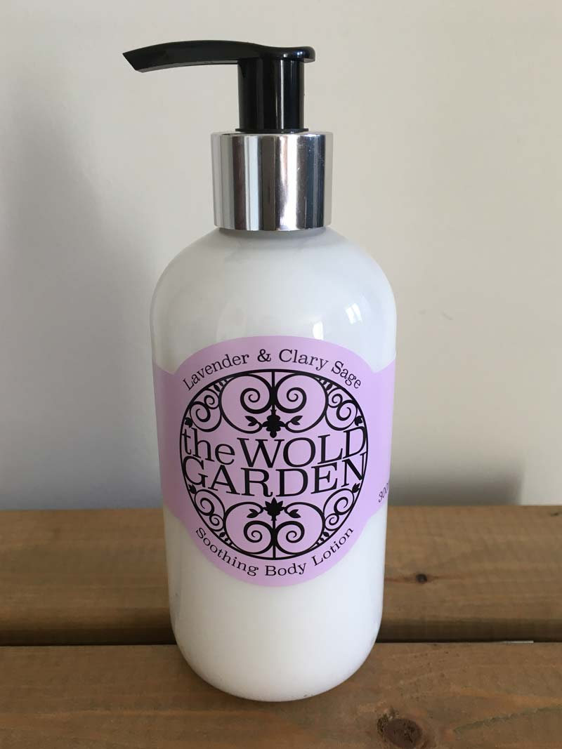 Bottle of Lavender and Clary Sage body lotion