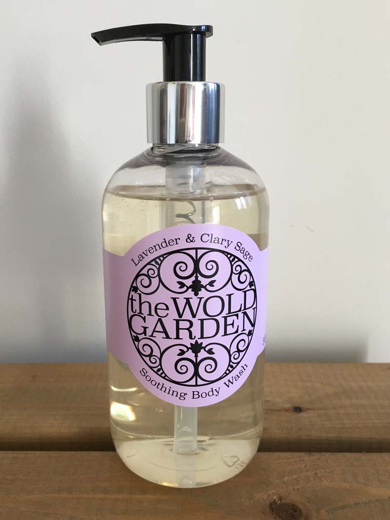 Bottle of Lavender and Clary Sage body wash