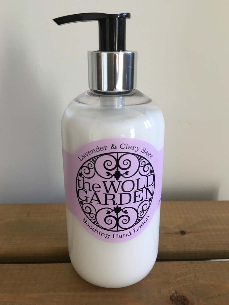 Bottle of Lavender and Clary Sage hand lotion