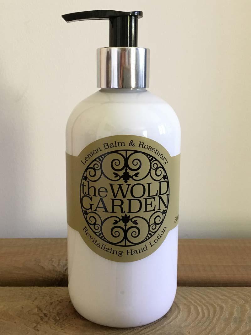 Bottle of Lemon balm and Rosemary hand lotion