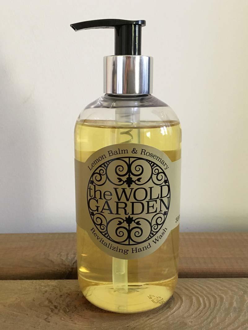 Bottle of Lemon balm and Rosemary hand wash